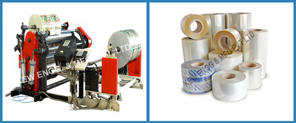 Lidding Film Slitter Rewinder Machine