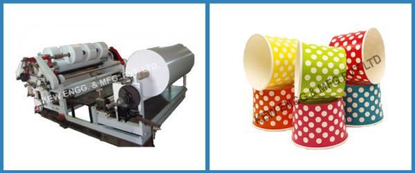 Ice Cream Cup Paper Slitter Rewinder Machine