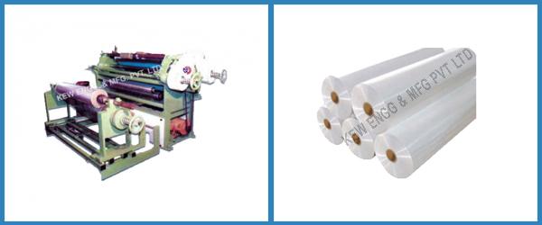 Shaft Winder Slitter Rewinder Machine